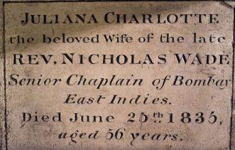 Juliana Wade memorial