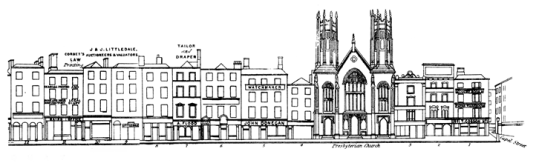 Upper Ormond Quay in 1850