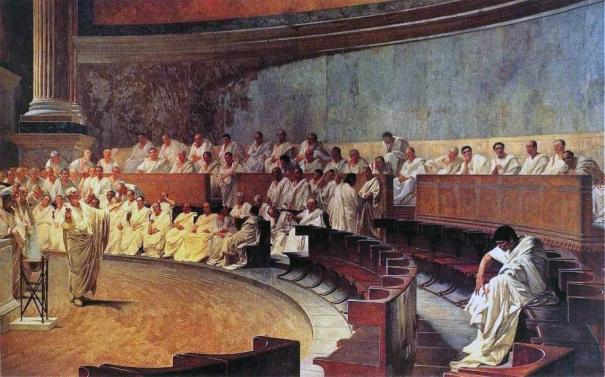 Cicero Denounces Catiline by Cesare Maccari