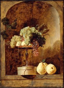 Frans Snyders, Grapes, Peaches and Quinces in a Niche